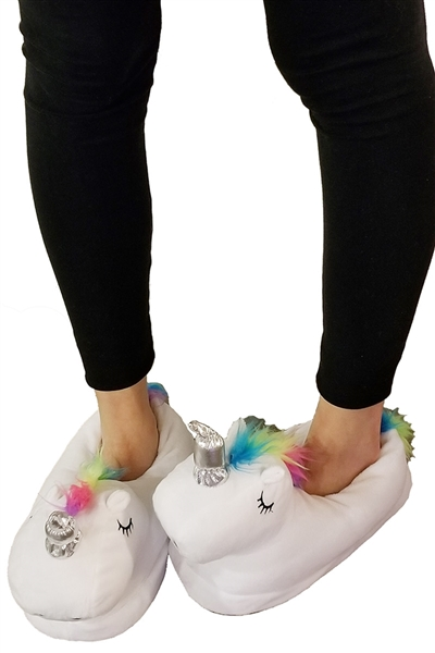 A Half Dozen Assorted Color Unicorn Indoor Slippers