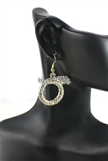 Rhinestone Snake Dangle Earring