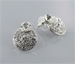 Clear Crystal Round Stud Earring