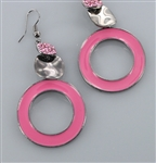 Donut Ring Epoxy Earring