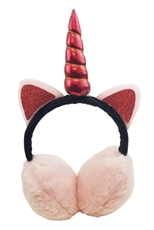 A Dozen Assorted Color Unicorn Soft Fur Earmuffs