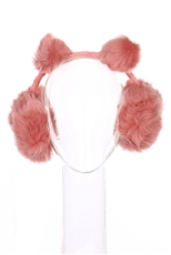 A Dozen Assorted Color Pompom Soft Fur Earmuffs