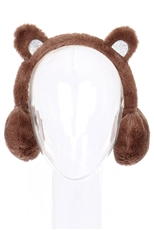 A Dozen Assorted Color Bear Ear Soft Fur Earmuffs