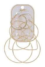 A Dozen 4-pair Hoop Earring Set