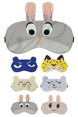 A Dozen Assorted Color Animal Theme Sleeping Mask