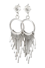 A Dozen Assorted Color Metallic Tassel Dangle Earring
