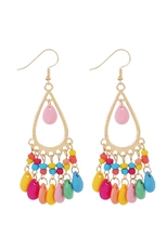 A Dozen Assorted Color Bohemian Style Dangle Earring