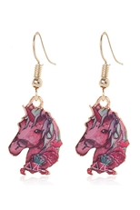 Dozen Assorted Color Unicorn Dangle Earring