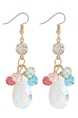 A Dozen Assorted Color Glass Dangle Earring