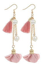 A Dozen Assorted Color Tassel and Flower Dangle Earring