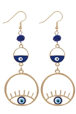 A Dozen Assorted Color Evil Eye Dangle Earring