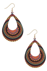 A Dozen Assorted Color Tribal Dangle Earring