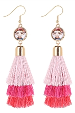 A Dozen Assorted Color Tassel Dangle Earring
