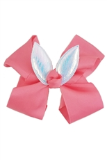 A Dozen Assorted Color Bunny Ear Bow Hair Clip
