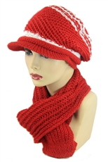 DZ Pack Assorted Color Beanie and Scarf Sets