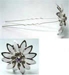 Dozen Rhinestone Flower Hair Pin
