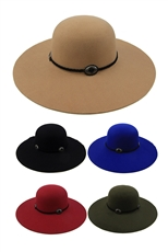 Dozen Assorted Color Wide Brim Floppy Hat