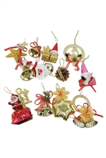 Dozen Assorted Color Christmas Ornaments