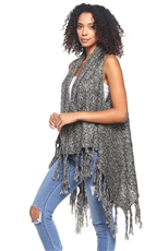 Knitted Vest with Tassel