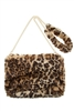 Soft Fur Clutch bag with Fur Strap