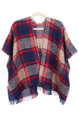 Plaid Pattern Kids Cardigan