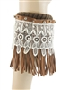 Half Dz Pack Assorted Color Tassel Fringe Boot Cuffs
