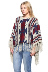Fashion Knitted Fringe Poncho