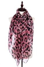 A Dozen Assorted Color Animal Print Scarves