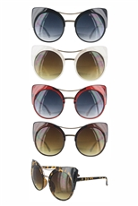 Dozen Assorted Color Cat Eye Sunglasses