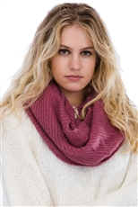 A Dozen Assorted Color Infinity Knitted Scarves