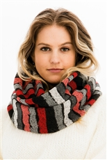 A Dozen Assorted Color Multi Tone Infinity Scarves