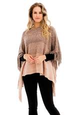 A Dozen Assorted Color Fashion Fringe Poncho