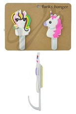 A Dozen Assorted Color Unicorn Theme Portable Wall Hanger