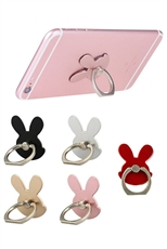 Dozen Assorted Color Rabbit Ring Grip Anti Drop Finger Holder