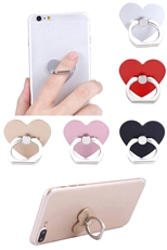 A Dozen Assorted Color Heart Ring Grip Anti Drop Finger Holder