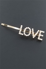 A Dozen Assorted Pearl Letter Hair Pin