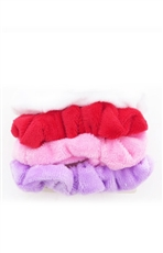 A Dozen Assorted Color 4-pc Multi Scrunchie Set