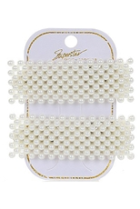A Dozen 2-pc Faux Pearl Hair Clip Set