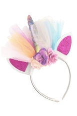 A Dozen Assorted Color Unicorn Lace Headband