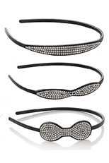 Dozen 3-pc Rhinestone Headband Set