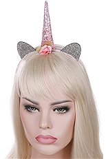 A Dozen Assorted Color Rhinestone Unicorn Headband