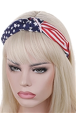 A Dozen American Flag Center Knotted Headband