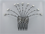 Rhinestone Ribbon Hair Comb