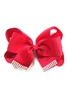Dozen Assorted Color Rhinestone Accent Bow Hair Clip Hair Pin