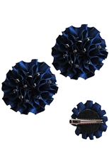 A Dozen Assorted Color 2-pc Flower Hair Clip Set