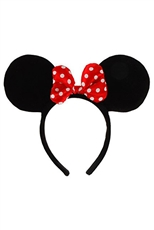 Dozen Polka Dot Accent Mouse Headband