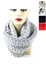 DZ Pack Assorted Color Chevron Knitted Infinity Scarves