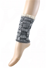 DZ Pack Assorted Color Lace Knit Crochet Leg Warmers