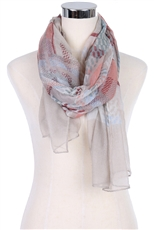 DZ Pack Assorted Color Multi Tone Fashion Scarves