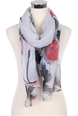 DZ Pack Assorted Color Multi Tone Flower Scarves